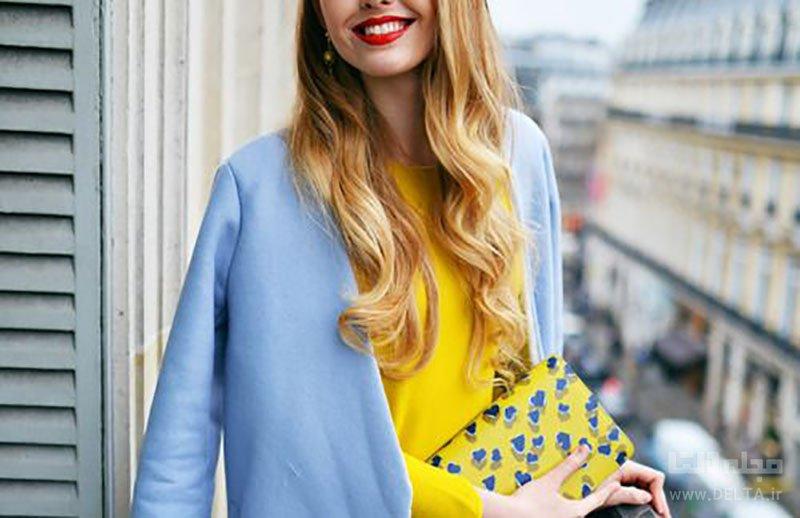 لباس آبی روشن