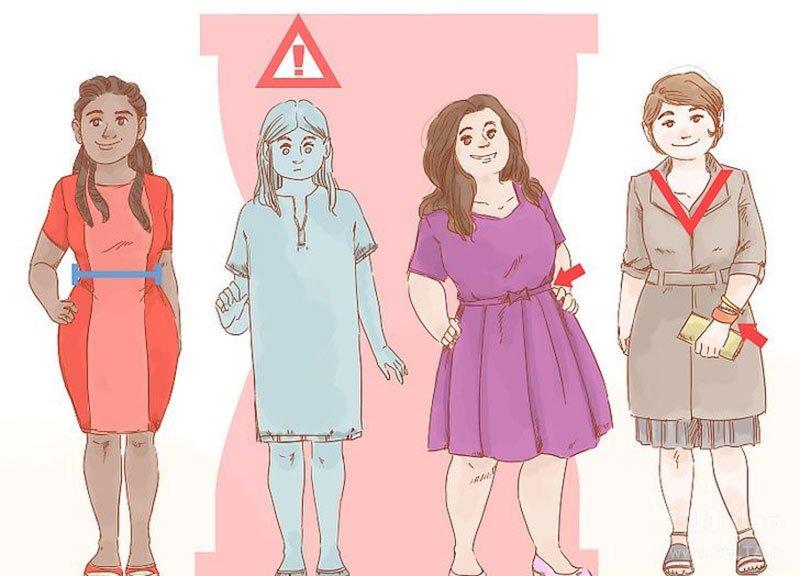 لباس مناسب اندام ساعت شنی شکل