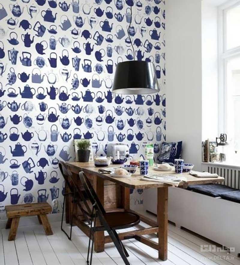 کاغذ دیواری برای دیوارهای آشپزخانه