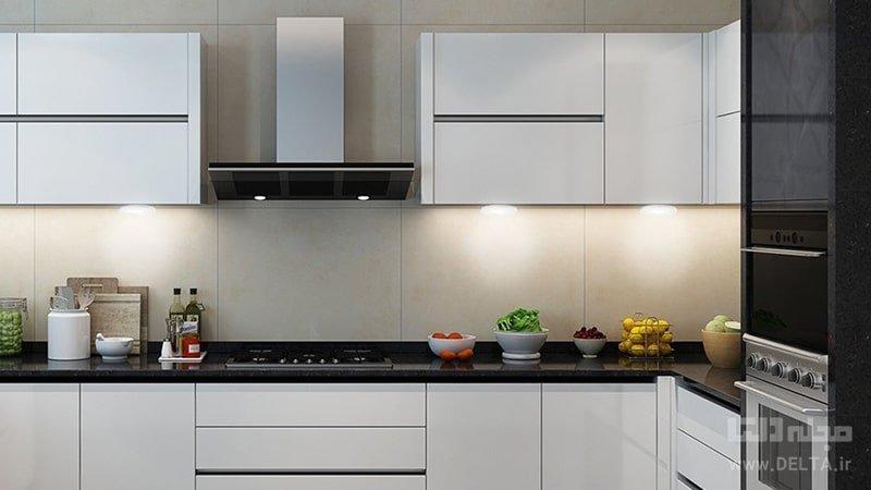نورپردازی برای تزیین دیوار آشپزخانه
