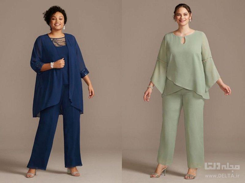 خانم هایی با بالاتنه بزرگ چه بپوشند پارچه ساده