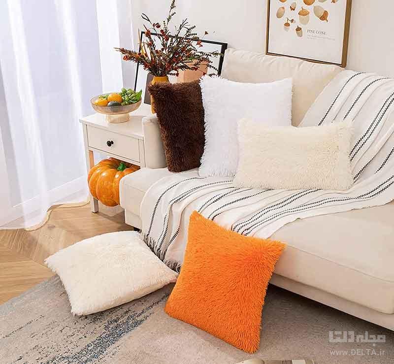 تزیین قالیچه با کوسن