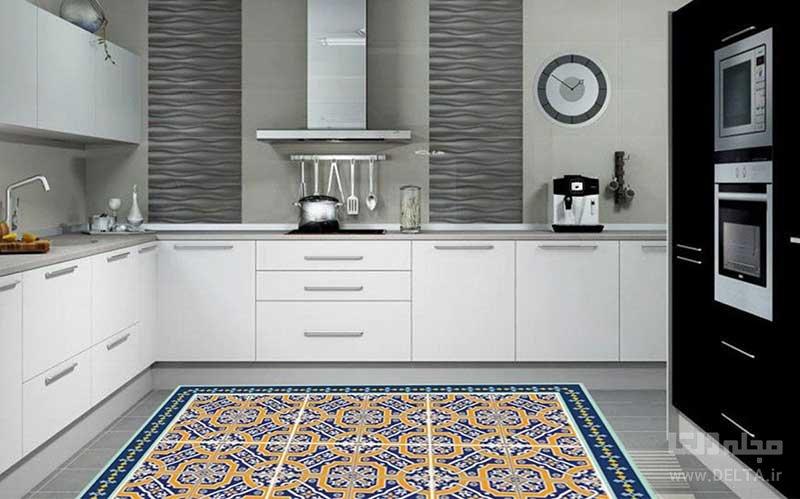 فرش با الگوهای گل گلی