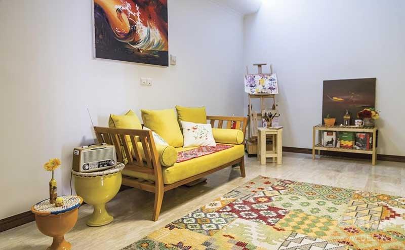 ترکیب فرش سنتی با سبک مدرن
