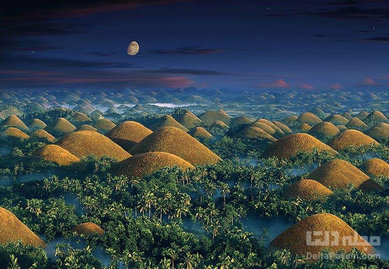 تپههای شکلاتی، طبیعتی جالب و حیرتانگیز